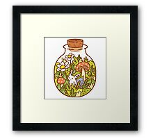 Bunny in a Bottle Framed Print