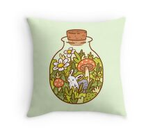 Bunny in a Bottle Throw Pillow