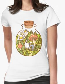 Bunny in a Bottle Womens Fitted T-Shirt