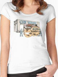 Cat Wash Women's Fitted Scoop T-Shirt