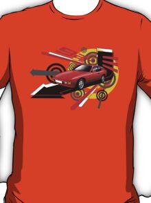 T-shirt 'Explosion' Red Porsche 924  T-Shirt