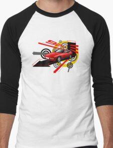 Porsche 924 T-shirt 'Explosion' Men's Baseball ¾ T-Shirt