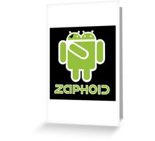 ZAPHOID GOOGLEBROX - Droid Army Greeting Card