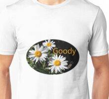 white daisy flower goody design Unisex T-Shirt