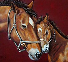 Nuzzles  by Susan Bergstrom