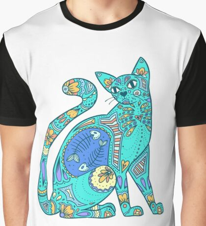 Pattern Cat - summer Graphic T-Shirt