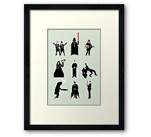 Men in Black Framed Print