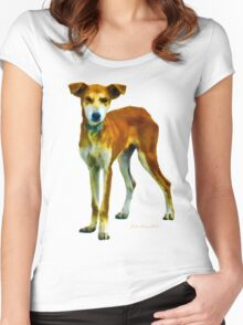 Red Dog Women's Fitted Scoop T-Shirt