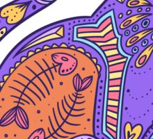 Pattern Cat - sunset Sticker