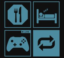 Eat, Sleep, Game, Repeat. by Werutaasu
