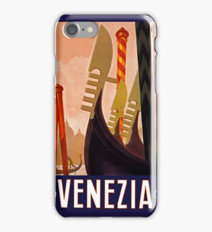 Venezia Vintage Travel Poster c 1920 PD iPhone Case/Skin