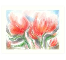 Joyful Flowers Art Print