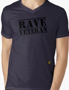 Rave Veteran - Black Mens V-Neck T-Shirt
