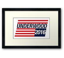 frank underwood Framed Print