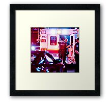 Checking in on the victim Framed Print