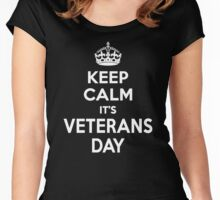 Keep Calm It's Veterans Day Women's Fitted Scoop T-Shirt