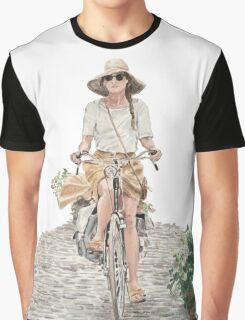 French Bike Ride Graphic T-Shirt