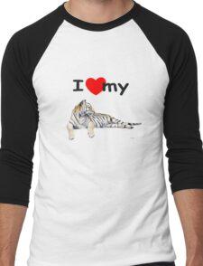I love my Tiger (for light) Men's Baseball ¾ T-Shirt