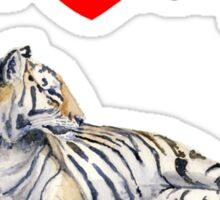 I love my Tiger (for light) Sticker