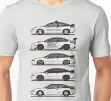 Stack of Pearl White Subaru Alcyone SVX Unisex T-Shirt