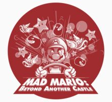 Mad Mario: Beyond Another Castle (light apparel and stickers) Kids Clothes