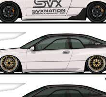 Stack of Pearl White Subaru Alcyone SVX Sticker