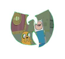 Adventure Time Forever - Green Outline Photographic Print