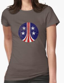 USCM Stars and Stripes Womens Fitted T-Shirt