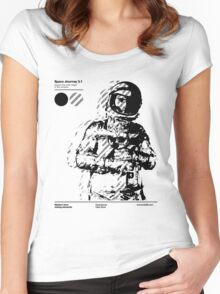 Space Journey 3.1 (black Women's Fitted Scoop T-Shirt