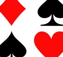 Poker signs Sticker