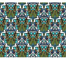 Dragonfly Nouveau- Blue Photographic Print
