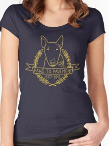 Paws To Pavement Dog Walking San Diego Yellow Gold Women's Fitted Scoop T-Shirt
