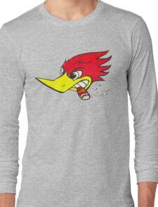 wild woodpecker horizontal Long Sleeve T-Shirt