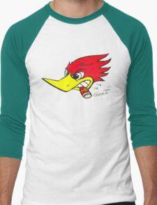 wild woodpecker horizontal Men's Baseball ¾ T-Shirt