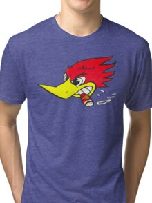 wild woodpecker horizontal Tri-blend T-Shirt