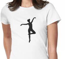 Ballerina Ballet Womens Fitted T-Shirt