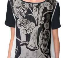 Flower vase abstract Chiffon Top