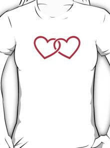 Two red hearts T-Shirt