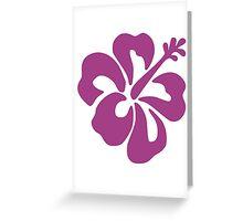 Hibiscus Flower Bloom Greeting Card