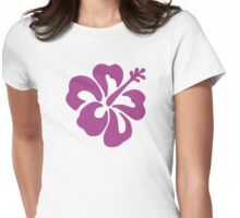 Hibiscus Flower Bloom Womens Fitted T-Shirt