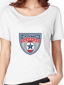 American Football Houston Stars Stripes Crest Retro Women's Relaxed Fit T-Shirt