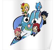 Fairy Tail Chibi Big Logo, Anime Poster