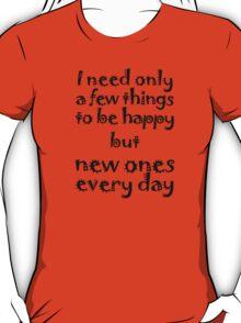 Mantra for Shopaholics T-Shirt