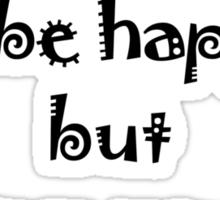 Mantra for Shopaholics Sticker