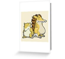 Number 27 and 28 Greeting Card