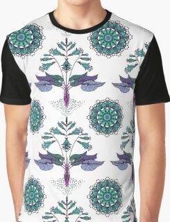 Floral Nouveau- Teal Graphic T-Shirt