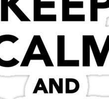 Keep calm and dance on ballet Sticker