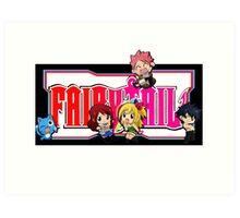 Fairy Tail Chibi Vertical Logo, Anime Art Print