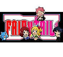 Fairy Tail Chibi Vertical Logo, Anime Photographic Print