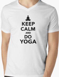 Keep calm and do Yoga Mens V-Neck T-Shirt